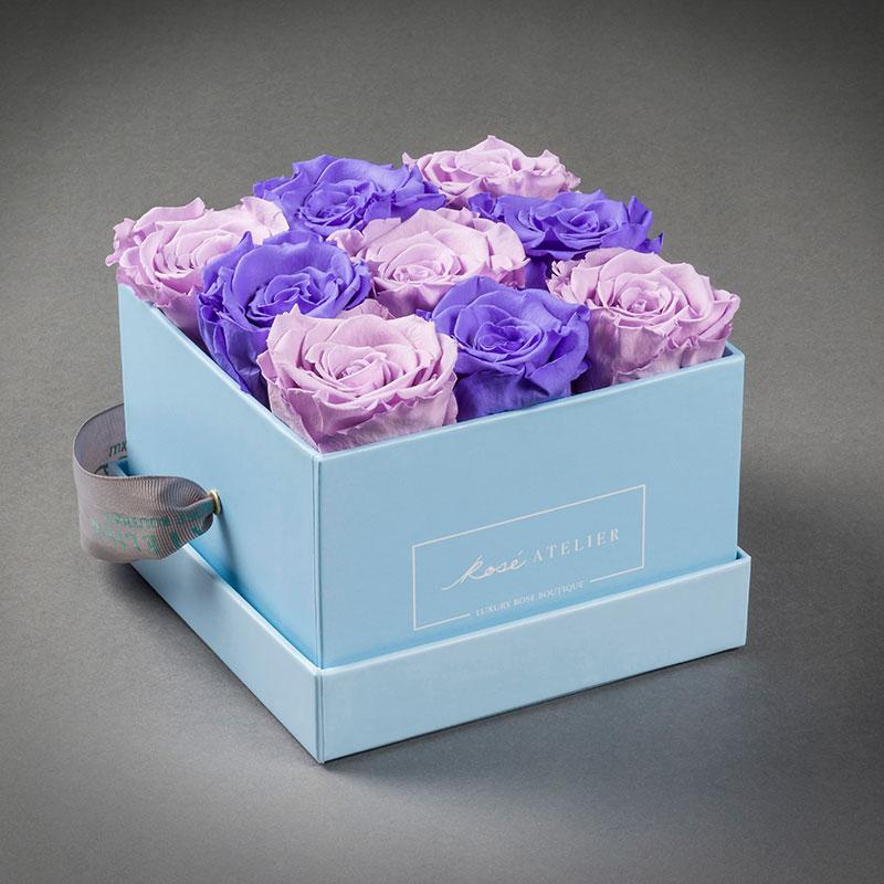 Rosé Atelier ® Colección nude, Caja Joy para 9 Rosas Grand
